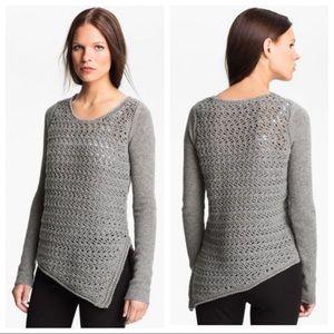 Helmut Lang Wool Cashmere Asymmetric Sweater S